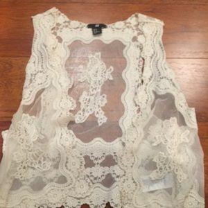 H&M Cream Lace Vest